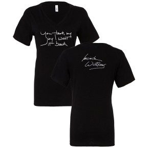 Women's Joy Handwritten Lyric Relaxed V-Neck T