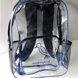 Mockingbird Foundation Clear Backpack
