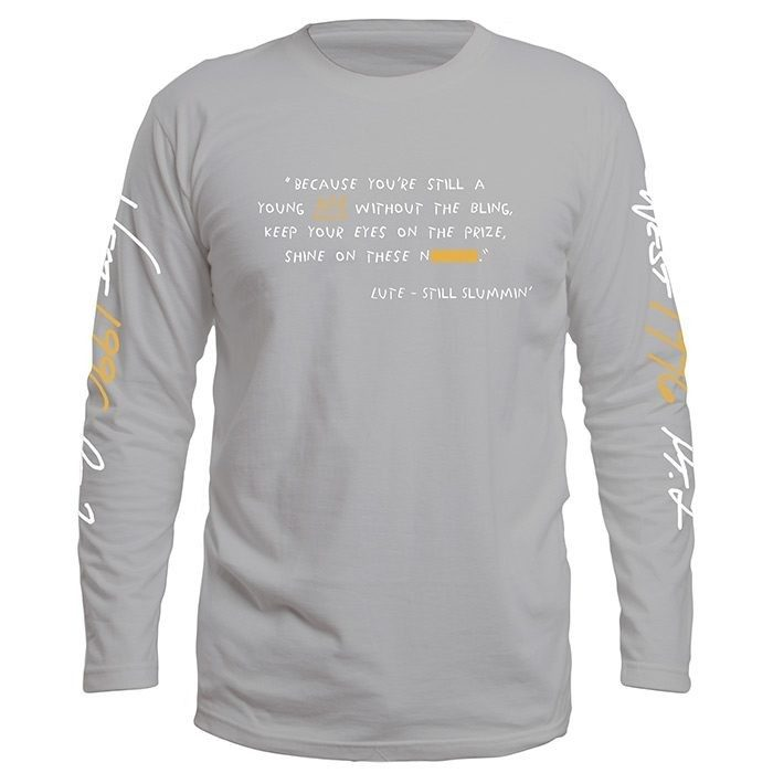 Lute Long Sleeve Tour T, Heather Grey