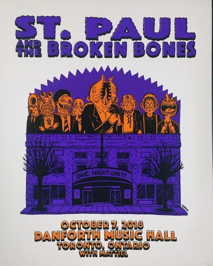 POSTER - Toronto - October 2018 (Autographed Option Available)
