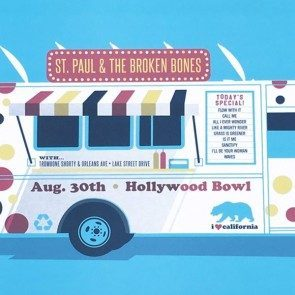 POSTER - St. Paul & the Broken Bones - Hollywood Bowl 2017
