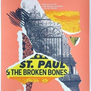 POSTER - St. Paul & the Broken Bones - New Orleans 2018