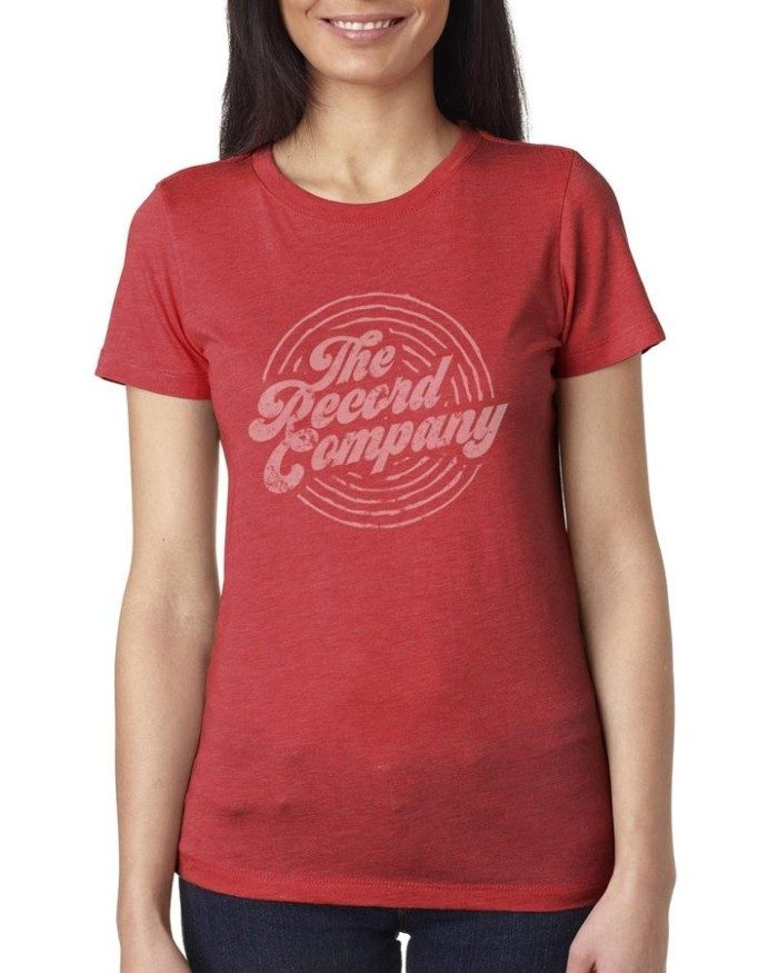 Women's TRC Circle Logo T, Heather Red
