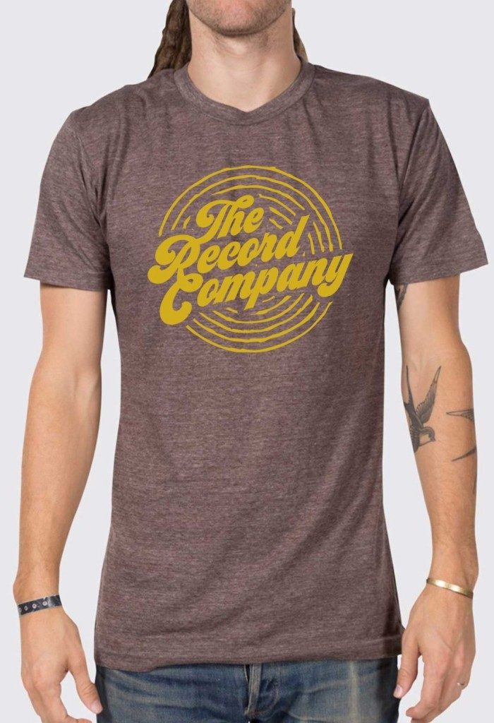 The Record Company Yellow Circle Logo T
