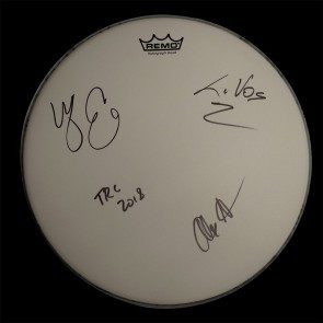 The Record Company Autographed Drumhead