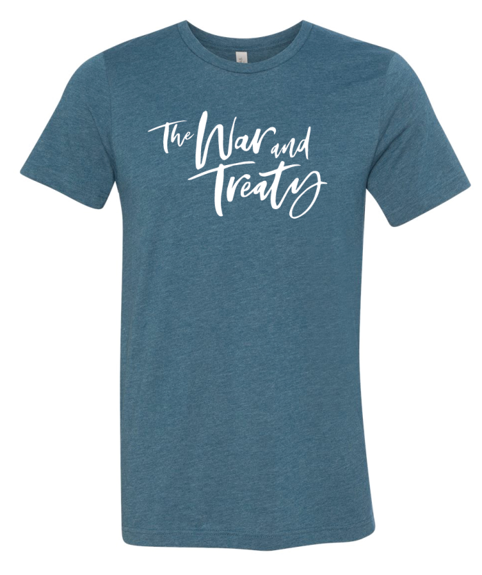 The War and Treaty Cursive Logo T Heather Deep Teal